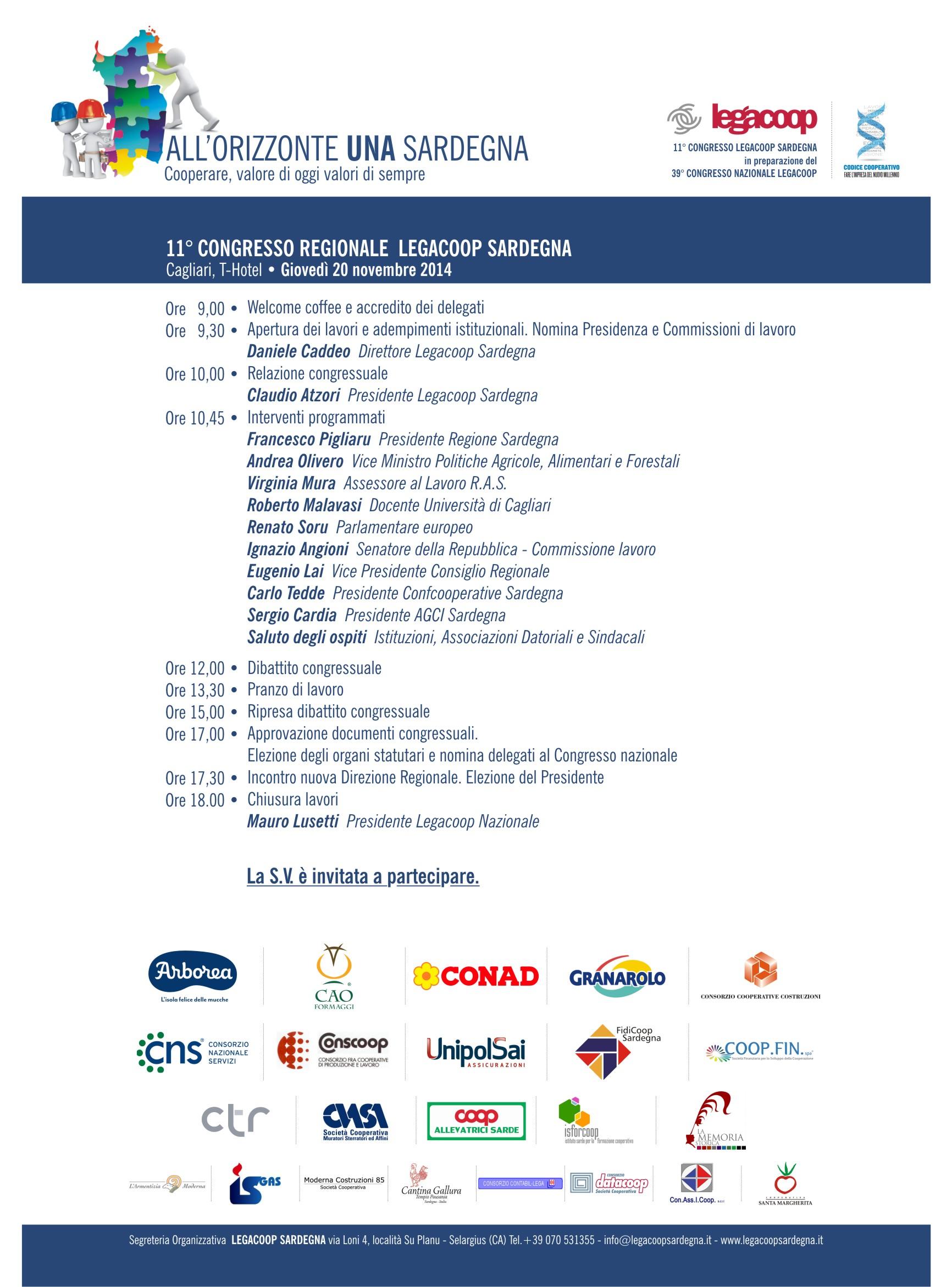 Il Programma del Congresso regionale di Legacoop ...