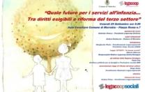 """Seminario Legacoop sociali  """"Quale futuro dei servizi per l'infanzia…tra diritti esigibili e riforma del terzo settore"""" venerdì 29 settembre"""
