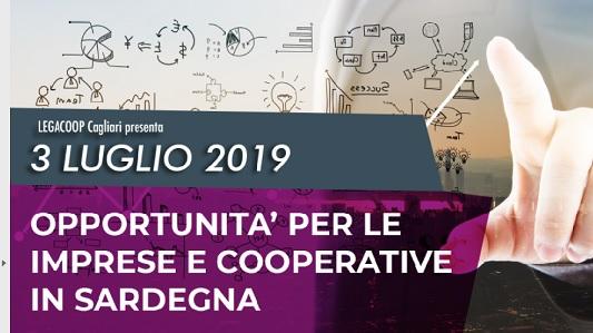 """Seminario  """"Opportunità per le imprese e Cooperative in Sardegna"""""""