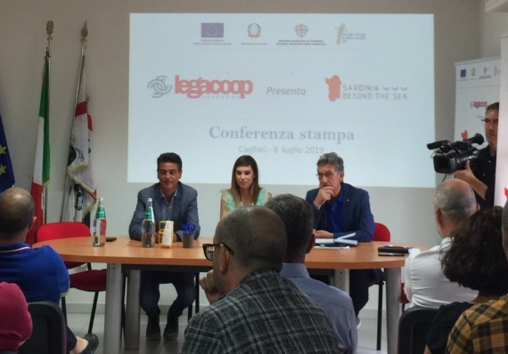 """Tenutasi la conferenza stampa di presentazione del progetto di internazionalizzazione """"Sardinia Beyond The Sea""""."""