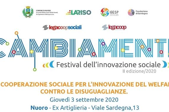 """""""La cooperazione sociale per l'innovazione del welfare, contro le disuguaglianze"""", Nuoro 3 settembre"""