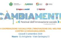 Nuoro, 3 settembre 2020 – La cooperazione sociale per l'innovazione del welfare, contro le diseguaglianze